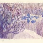 Robert Aldern, colored pencil on paper, landscape, Sioux Falls Artist