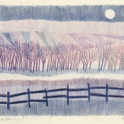 Robert Aldern landscape, colored pencil, Sioux Falls Artist